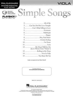 Simple Songs - Viola