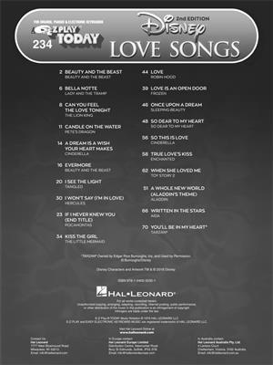 Disney Love Songs - 2nd Edition