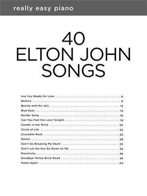 Really Easy Piano: 40 Elton John Songs