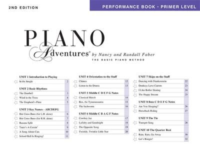 Piano Adventures Primer Level - Performance Book