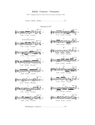 Zweistimmige Inventionen BWV 772-786