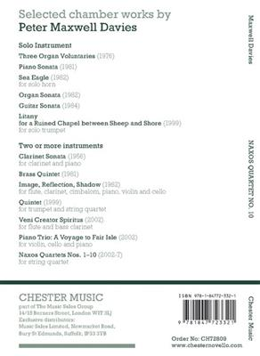 Naxos Quartet No.10 (Miniature Score)