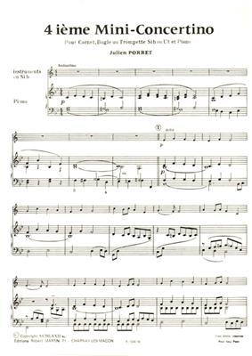 Quatrième Mini-Concertino (Sib ou Ut)